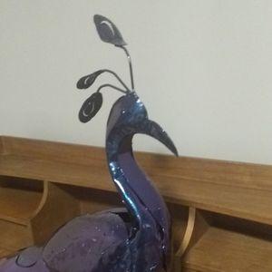 Recycled Metal Artwork 3d Iridescent Peacock